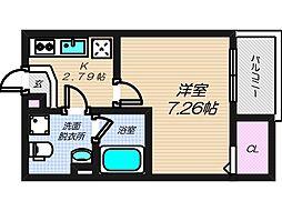 大阪府大阪市生野区生野西3丁目の賃貸アパートの間取り