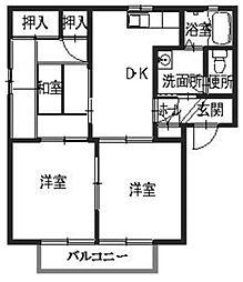 サンシャインハイツ梅井II[201号室]の間取り