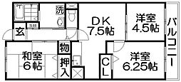 K'sマンション[1階]の間取り