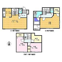 [テラスハウス] 神奈川県川崎市高津区久末 の賃貸【/】の間取り