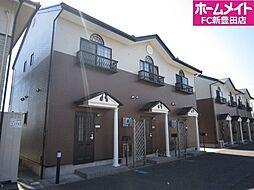 愛知県みよし市打越町諸輪坂の賃貸アパートの外観