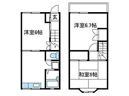 [一戸建] 神奈川県海老名市大谷北4 の賃貸【/】の間取り