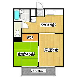 トーシンハイツ葛飾鎌倉[3階]の間取り