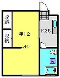ホドガヤビル[302号室]の間取り