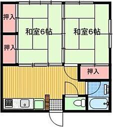 [一戸建] 東京都福生市志茂 の賃貸【/】の間取り