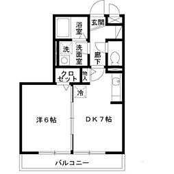 ベァーフルート深井 A棟[2階]の間取り