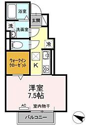 愛知県豊田市曙町4丁目の賃貸アパートの間取り