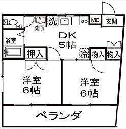 神奈川県川崎市宮前区野川の賃貸マンションの間取り