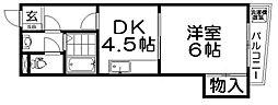マンションハシモト[2階]の間取り