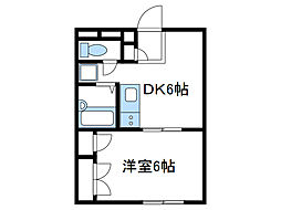 神奈川県海老名市社家の賃貸マンションの間取り