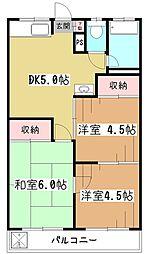 大沼マンション[2階]の間取り