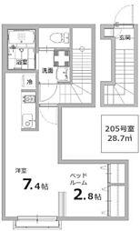 東京都国立市東1丁目の賃貸アパートの間取り