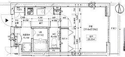 東急目黒線 西小山駅 徒歩6分の賃貸マンション 1階1Kの間取り