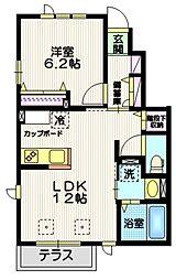 Ys成城 1階1LDKの間取り