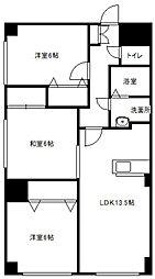クレア東札幌[10階]の間取り