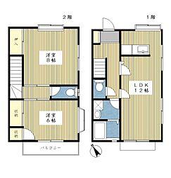 [テラスハウス] 神奈川県横浜市都筑区茅ケ崎東2丁目 の賃貸【/】の間取り