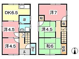 [一戸建] 岡山県岡山市北区庭瀬 の賃貸【/】の間取り