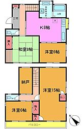 [一戸建] 千葉県市川市市川南3丁目 の賃貸【/】の間取り