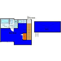 京急本線 梅屋敷駅 徒歩5分の賃貸アパート 2階ワンルームの間取り