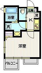 (仮称)目黒本町5丁目計画 4階1Kの間取り