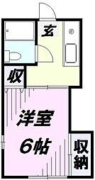 埼玉県所沢市大字北秋津の賃貸アパートの間取り