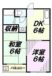 埼玉県所沢市大字上山口の賃貸マンションの間取り