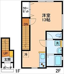 ボヌールA棟[3号室]の間取り