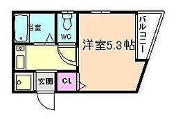 メニュール新福島[4階]の間取り