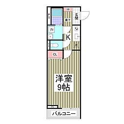 小田急小田原線 柿生駅 徒歩3分の賃貸アパート 3階1Kの間取り