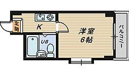 COCO堺東II[4階]の間取り