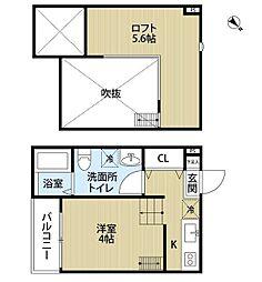 MARINE RESIDENCE SHIRAHATA[2階]の間取り