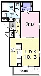 JR東海道本線 茅ヶ崎駅 バス14分 柳島下車 徒歩2分の賃貸アパート 2階1LDKの間取り
