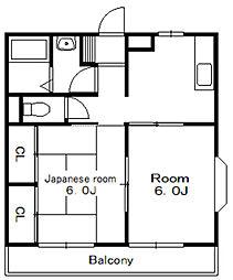 グレインハイツ[1階]の間取り