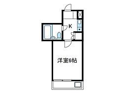 神奈川県相模原市南区松が枝町の賃貸マンションの間取り