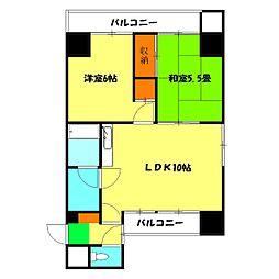 神奈川県横浜市中区宮川町2丁目の賃貸マンションの間取り