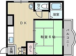 新瑞光ハイツ[5階]の間取り