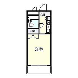 神奈川県横浜市戸塚区平戸3の賃貸マンションの間取り