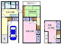 [一戸建] 大阪府松原市天美西1丁目 の賃貸【/】の間取り