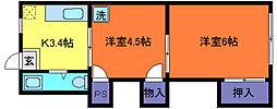 藤和マンション[5階]の間取り