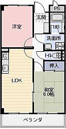 長野県長野市丹波島3丁目の賃貸マンションの間取り