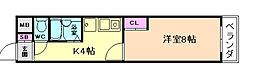 プレステル福島[2階]の間取り