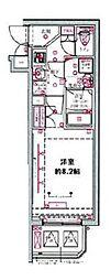 都営三田線 西台駅 徒歩9分の賃貸マンション 1階1Kの間取り