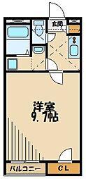レオネクストグランベルク毛呂II 2階1Kの間取り