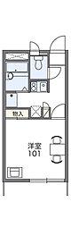 ぎぷふぇる[1階]の間取り
