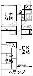 ラコンコルド[3階]の間取り