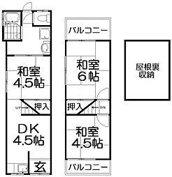 [一戸建] 大阪府枚方市出口2丁目 の賃貸【/】の間取り