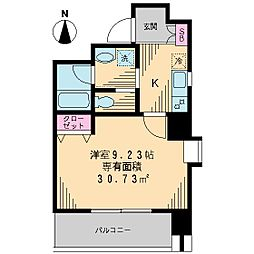 J・S深川高ばしビル[602号室]の間取り