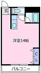 山本レンターマンション[3階]の間取り