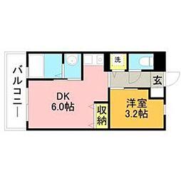 リード桜坂[1201号室]の間取り