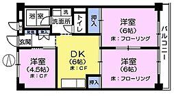 小竹ファミリーマンション[2階]の間取り
